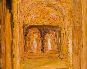 Fahrelnissa Zeid – Aslanlar Avlusuna Bakış (Alhambra)
