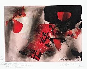 Burhan Doğançay – Rouge et Noir, Broadway Lafayette Serisi (Fümajdan Baskıya)