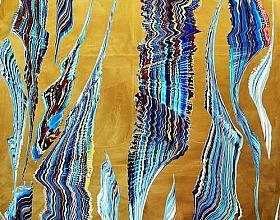 Yücel Dönmez – Soyut Kompozisyon XVII