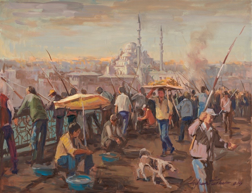 SATILDI – Ayhan Türker – Köprüde Balık Avlayanlar